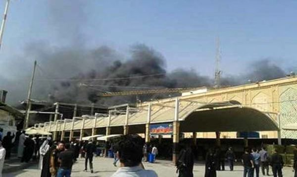 هتل زائران ایرانی در نجف دچار حریق شد