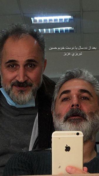 مهدی صبایی و دوستش + عکس