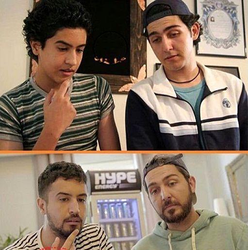 عکس بامزه از نوجوانی دو بازیگر خوشتیپ
