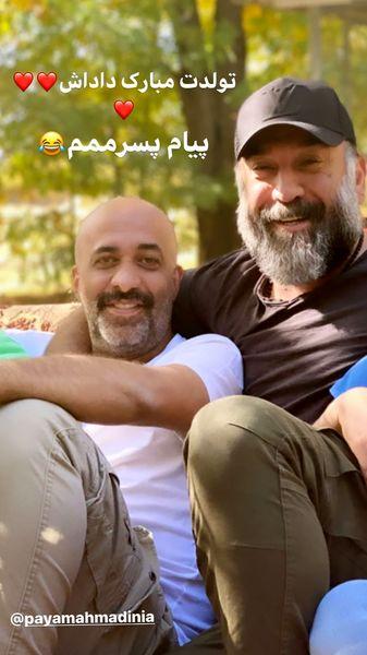 تبریک علی انصاریان به دوست بازیگرش + عکط