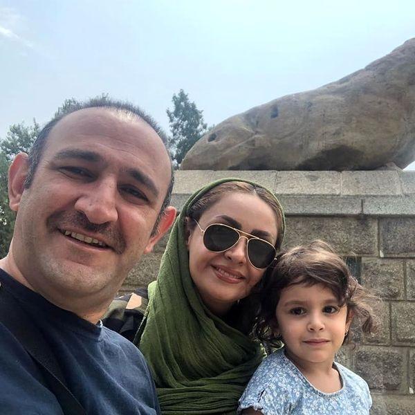 اوس موسی پایتخت و همسر بازیگرش در سفر+عکس