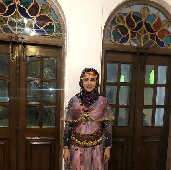 شبنم قلی خانی در لباس کردی + عکس