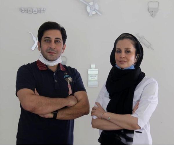 وحید شیخ زاده و دندانپزشکش + عکس