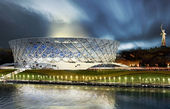 فروریختن ورزشگاه میزبان جام جهانی 2018 به دلیل بارندگی + فیلم