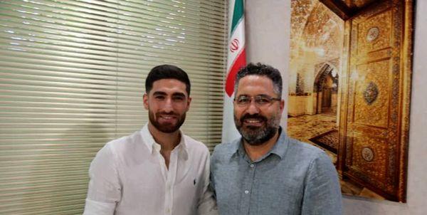 حضور ستاره فوتبال ایران در باشگاه پیکان
