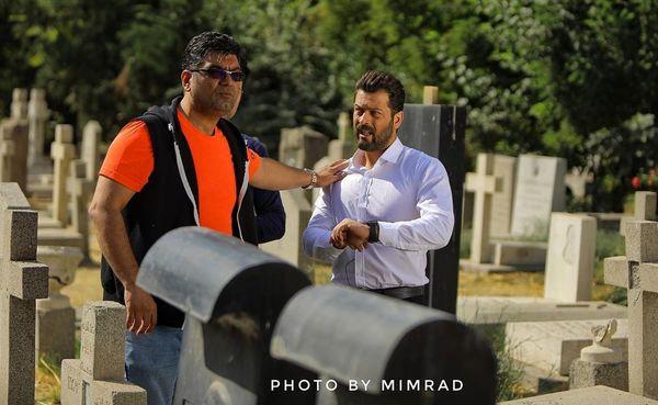 پژمان بازغی در قبرستان مسیحی ها+عکس