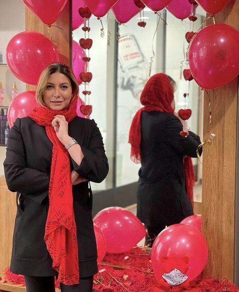 فریبا نادری در روز ولنتاین + عکس