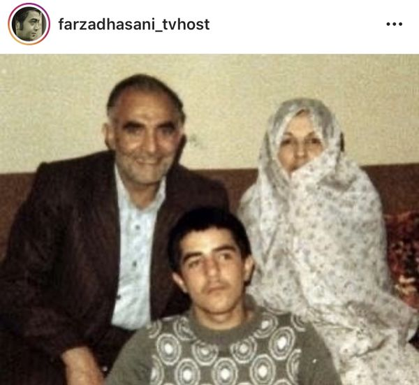 جوانی فرزاد حسنی در کنار والدینش + عکس