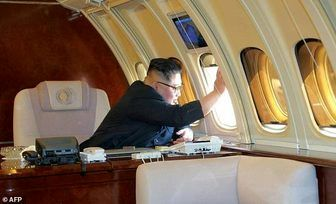 رهبر کره شمالی و جت شخصیاش