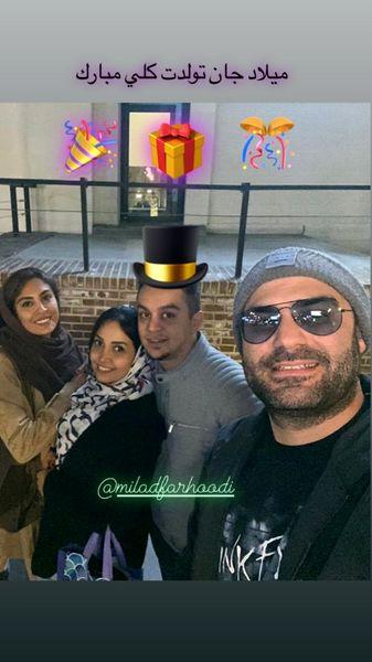 حدیثه تهرانی و همسرش در یک تولد + عکس