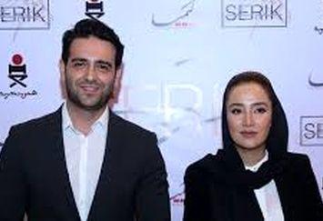 بهاره افشاری و امیرحسین آرمان در پشت صحنه سریال «ممنوعه»