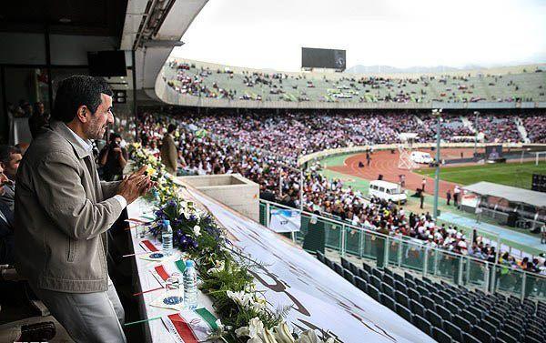 درگیری محافظان احمدی نژاد با یگان ویژه مستقر در ورزشگاه آزادی