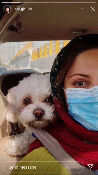 سولماز غنی وسگش در ماشین + عکس