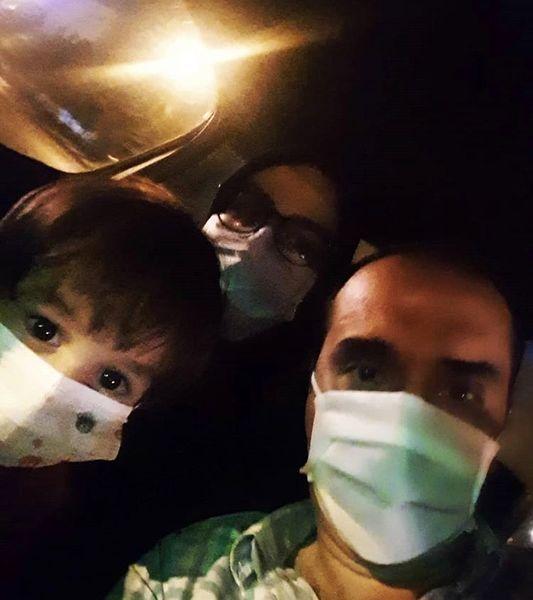 خانواده نیما کرمی در پویش ماسک بزنیم + عکس