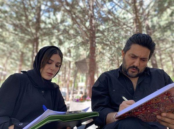 تمرینات حامد بهداد و سحر دولتشاهی در پشت صحنه + عکس