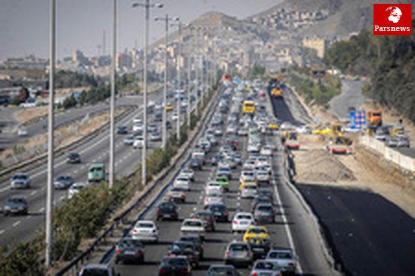 ترافیک سنگین در محدوده جاده چالوس