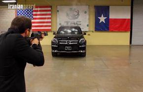 شلیک مستقیم به شاسی بلند بنز+ فیلم