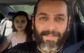 سلفی امیررضا دلاوری با دخترش در ماشین + عکس