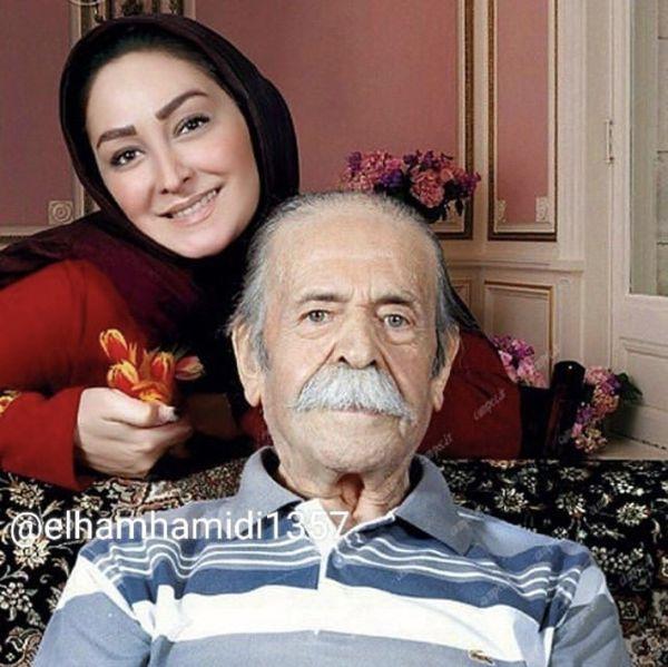 الهامحمیدی در کنار زنده یاد محمدعلی کشاورز + عکس