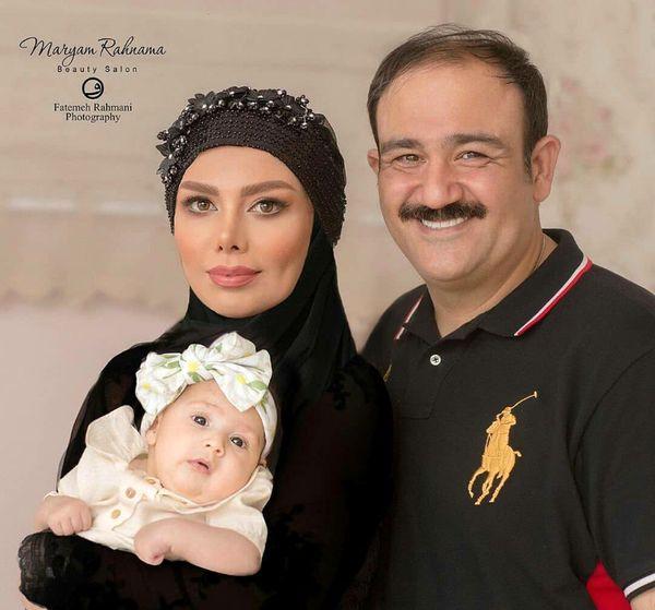 عکس مهران غفوریان در کنار همسر و دختر بامزه اش