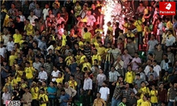 هواداران عصبانی سپاهان صندلیهای ورزشگاه را شکستند