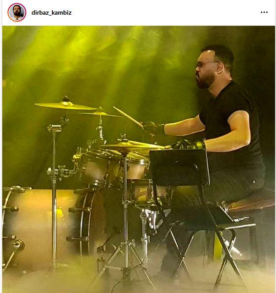 درام زدن کامبیز دیرباز در کنسرت + عکس