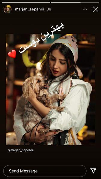بهترین دوست مرجان سپهری کیست؟ + عکس