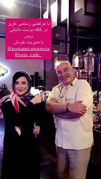 آشا محرابی در کافه بازیگر معروف + عکس