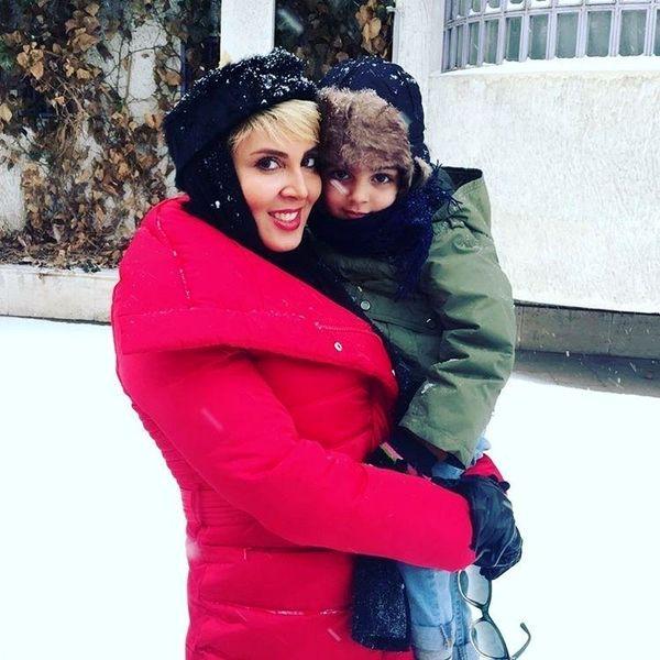 برف بازی لیلا بلوکات با خواهرزاده شیرینش+عکس