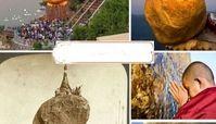 صخره طلایی افسانه ای
