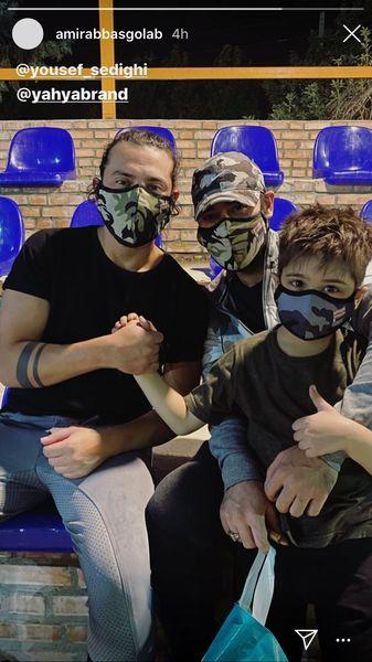 ماسک ارتشی امیرعباس گلاب ودوستانش + عکس