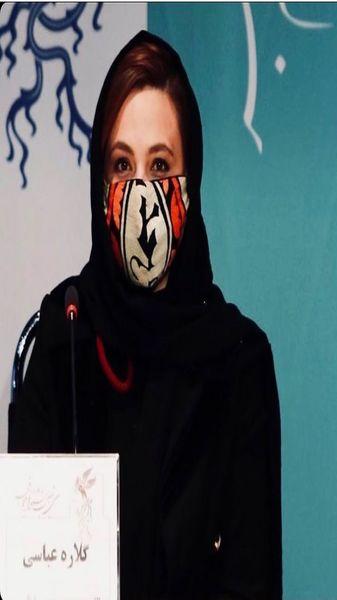 پوشش گلاره عباسی در جشنواره فیلم فجر + عکس