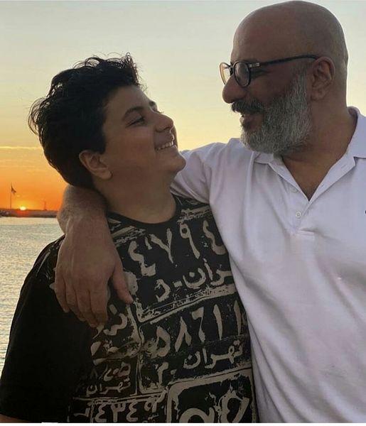 همسر بازیگر پایتخت در کنار پسرش + عکس