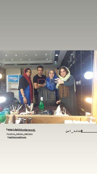 سامان صفاری در پشت صحنه خانه امن + عکس
