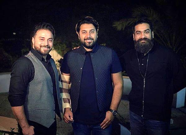 احسانخواجه امیری و دوستان خواننده اش + عکس