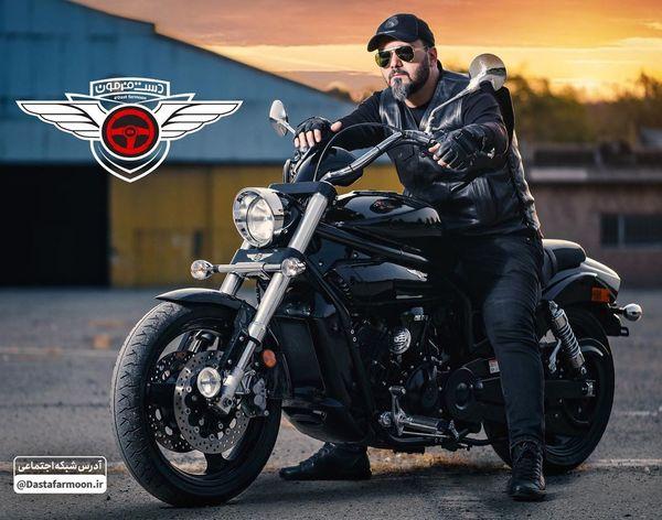ژست کامبیز دیرباز با موتور لاکچری اش+عکس