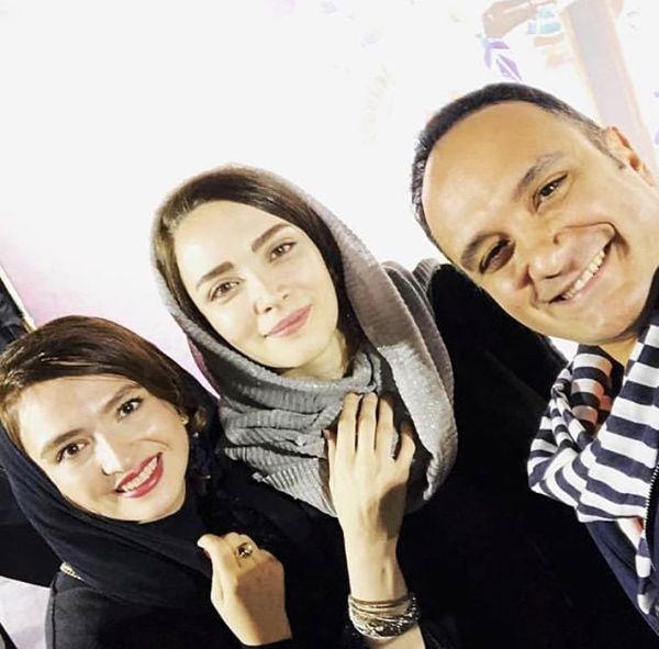 احسان کرمی در کنار خانم های بازیگر معروف + عکس
