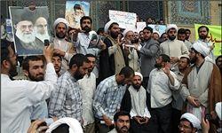 طلاب تهرانی در اعتراض به هتک حرمت صحابه پیامبر (ص) تجمع کردند