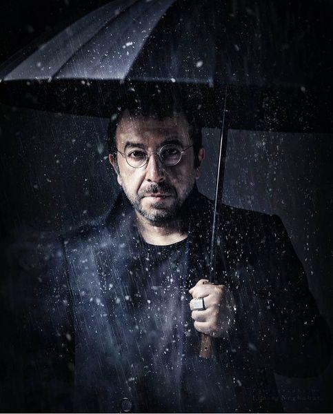 محمدرضا مالکی در باران + عکس