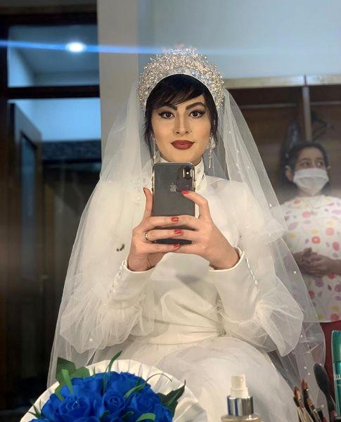 مریممومن در لباس عروس + عکس