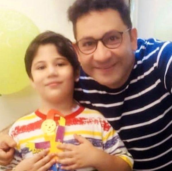 سروش جمشیدی و پسرش + عکس