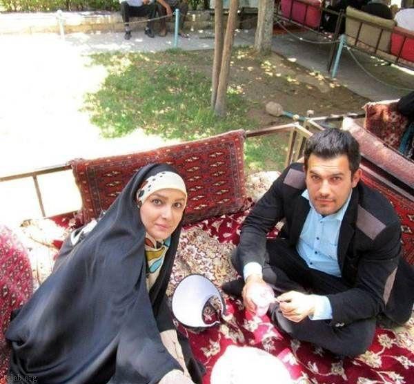 مژده خنجری و همسرش در رستوران سنتی+عکس