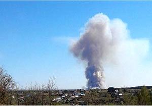 تخلیه ۲۰۰۰ نفر به دلیل وقوع انفجار در منطقه نظامی روسیه