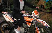 موتورسیکلت لاکچری دانیال عبادی + عکس