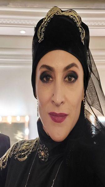 آرایش دراکولایی خانم بازیگر + عکس