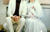 عکس افسانه بایگان با لباس عروس