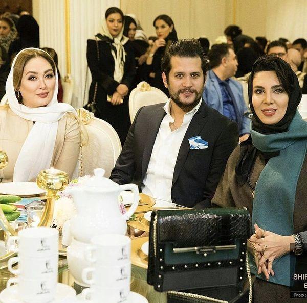 سیاوش خیرابی و خانم های بازیگر در یک میهمانی + عکس