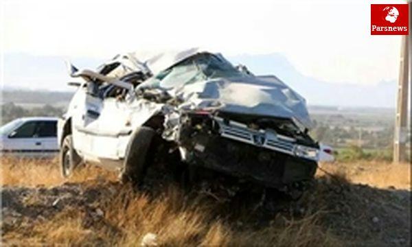 واژگونی مرگبار خودرو حامل اتباع غیر مجاز در آزادراه قم