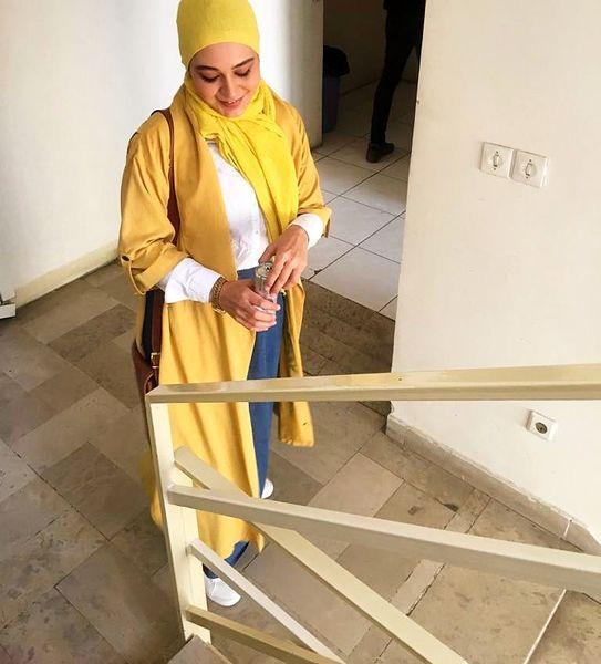 تیپ زرد جیغ سانیا سالاری+عکس