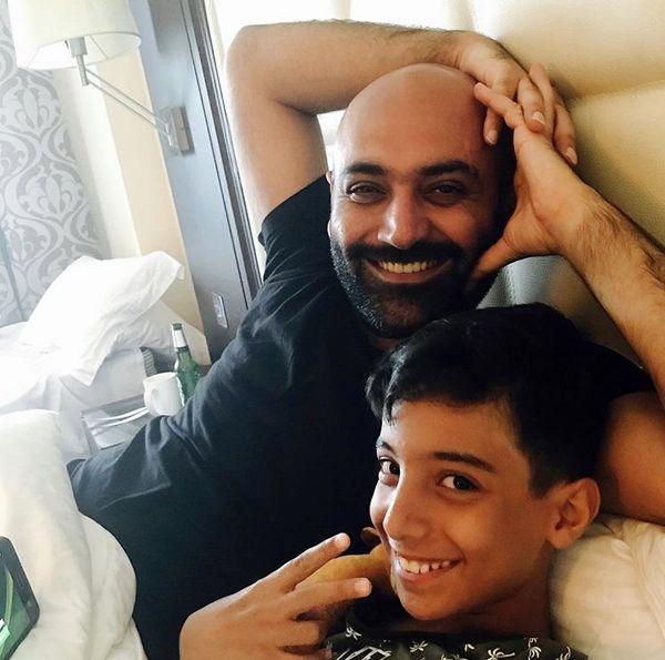 شوهر ریحانه پارسا و پسرش + عکس